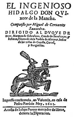 Novel Painting - Don Quixote Title Page by Granger