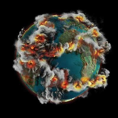 Doomsday Volcanoes Print by Claus Lunau
