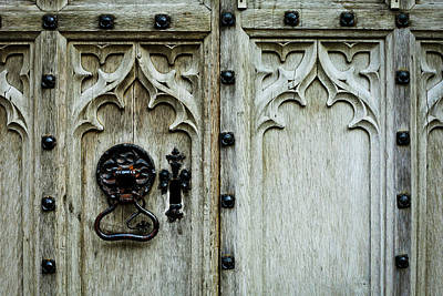 Medieval Entrance Photograph - Door Handle by Tom Gowanlock
