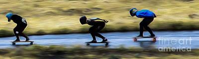 Photograph - Downhill Runs  by Carl Warren