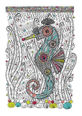 Dream Seahorse Print by Susan Claire