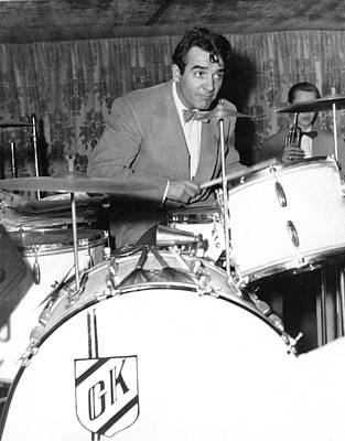 1949 Photograph - Drummer Gene Krupa by Underwood Archives