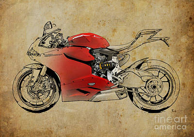 Motorcycle Mixed Media - Ducati 1199 Panigale R Wsbk 2013 by Pablo Franchi