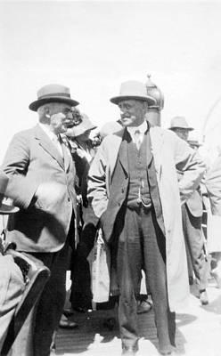 Director Photograph - Dyson And Eddington by Emilio Segre Visual Archives/american Institute Of Physics