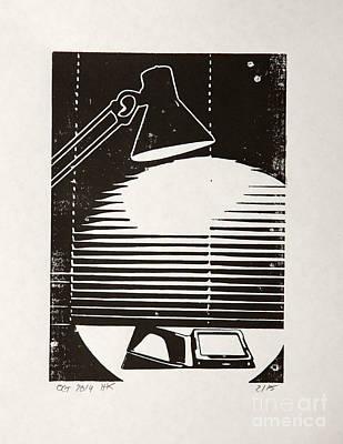 E-reading Night Print by Igor Kislev