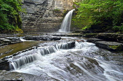 Eagle Cliff Falls Print by Frozen in Time Fine Art Photography