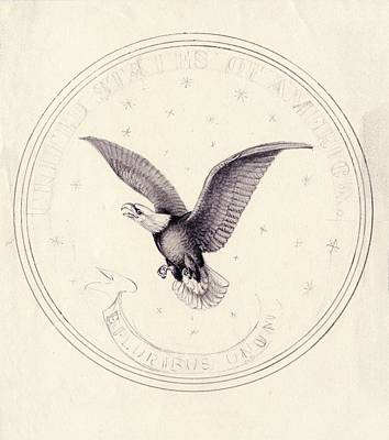 Eagle Design For Us Coin Print by American Philosophical Society