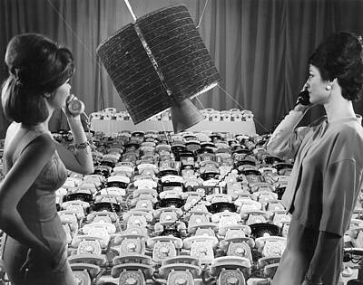 Sixties Photograph - early Bird Satellite System by Underwood Archives