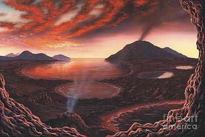 Early Earth, Artwork Print by Richard Bizley