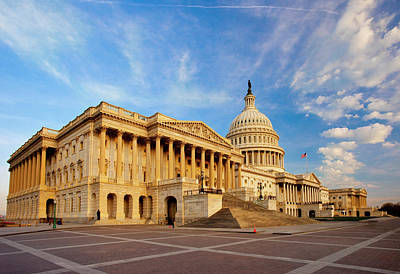Early Morning At The Us Capitol Print by Brian Jannsen