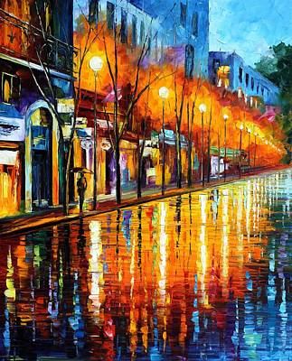 Morning Light Painting - Early Morning In Paris by Leonid Afremov