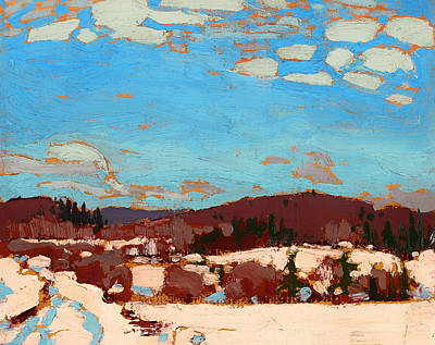 Early Spring Painting - Early Spring by Mountain Dreams