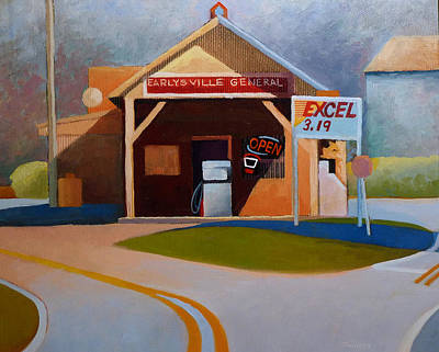 Country Store Painting - Earlysville General Store No. 2 by Catherine Twomey