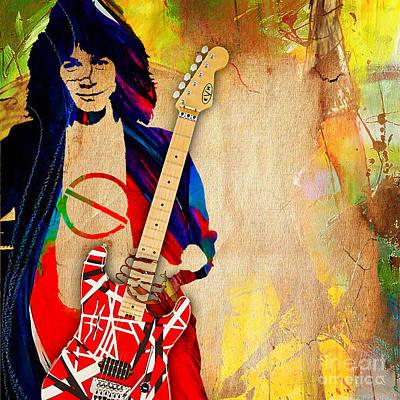 Eddie Van Halen Special Edition Print by Marvin Blaine