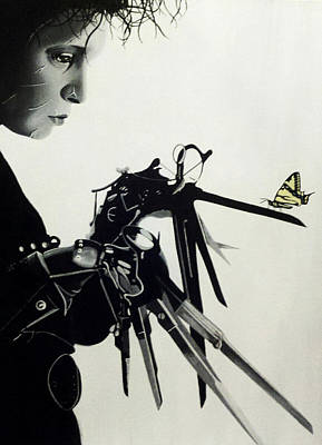 Johnny Depp Painting - Edward Scissorhands by Amanda DeVillers