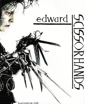 Edward Scissorhands Painting - Edward Scissorhands by Sarah Stonehouse