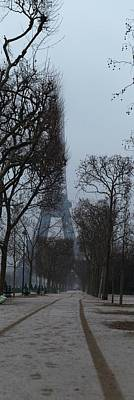 Eiffel Tower - Paris France - 011312 Print by DC Photographer