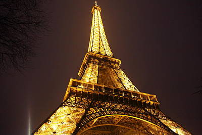 Eiffel Tower - Paris France - 011315 Print by DC Photographer