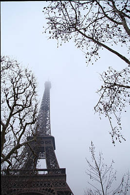 Eiffel Tower - Paris France - 011319 Print by DC Photographer