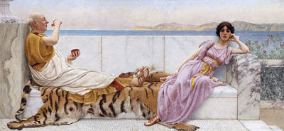 John William Godward Painting - Eighty And Eighteen by John William Godward