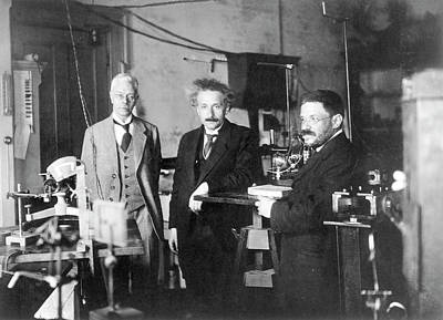 Einstein Print by Emilio Segre Visual Archives/american Institute Of Physics