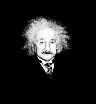 Einstein Drawing - Einstein by Mary Nash-Pyott