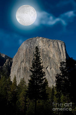 El Capitan, Yosemite Np Print by Mark Newman