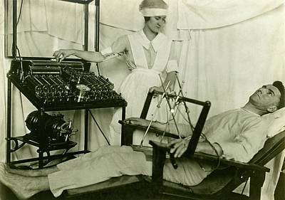 Shock Photograph - Electrical Treatment Of Shell Shock by Otis Historical Archives, National Museum Of Health And Medicine
