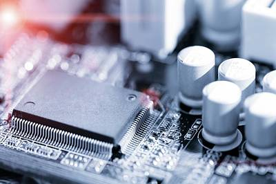Electronic Chip Print by Wladimir Bulgar