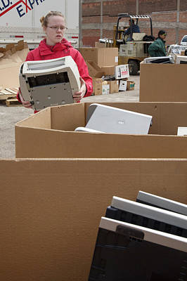 Electronic Waste Collection Print by Jim West