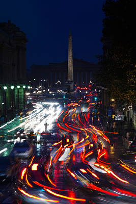 France La Madeleine Photograph - Elevated View Of Traffic On The Road by Panoramic Images