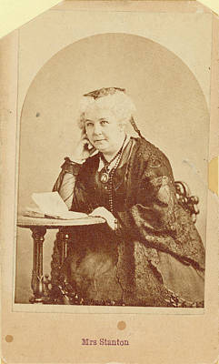Suffrage Painting - Elizabeth Cady Stanton (1815-1902) by Granger