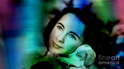 Elizabeth Mixed Media - Elizabeth Taylor by Marvin Blaine