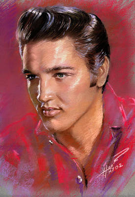 Rock And Roll Drawing - Elvis Presley by Viola El