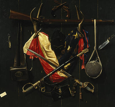 Musket Painting - Emblems Of The Civil War by Mountain Dreams