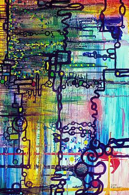 Science Painting - Emergent Order by Regina Valluzzi