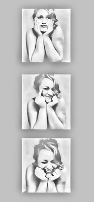 Emotions Print by Kristie  Bonnewell