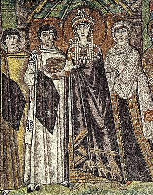 Empress Theodora With Her Court. Ca Print by Everett