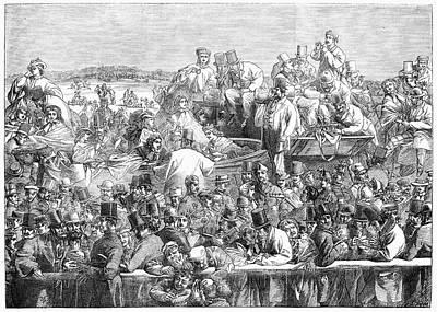 England Epsom Racetrack Print by Granger