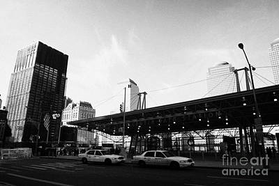 Entrance To The Rebuilt Path Train Station Ground Zero World Trade Center Site New York City Print by Joe Fox
