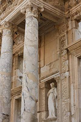 Ephesus Library Print by David Parker