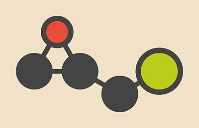 Polymer Photograph - Epoxy Resin Molecule by Molekuul