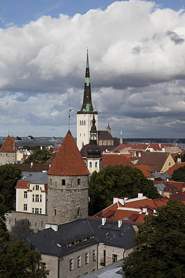 Estonia, Tallin, Overview Of The Old Print by Tips Images