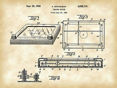 Etch A Sketch Patent 1959 - Vintage Print by Stephen Younts