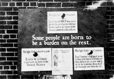 Eugenics Exhibit At Public Fair Print by American Philosophical Society