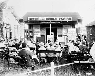Eugenics Lecture At Public Fair Print by American Philosophical Society