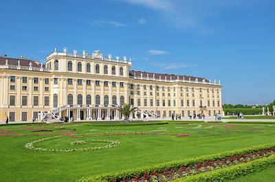 Begonia Garden Photograph - Europe, Austria, Vienna, Schonbrunn by Jim Engelbrecht