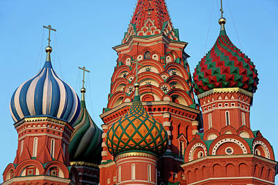 Onion Domes Photograph - Europe, Russia, Moscow by Kymri Wilt