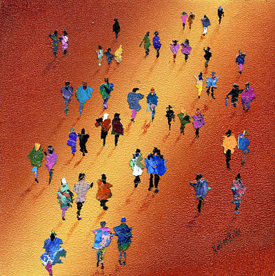 Gathering Painting - Evening Stroll by Neil McBride