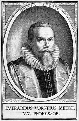 Everardus Vorstius, Dutch Physician Print by Middle Temple Library